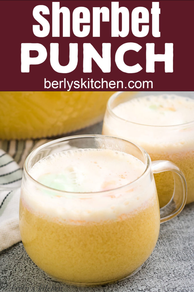 Two glasses of citrus punch.