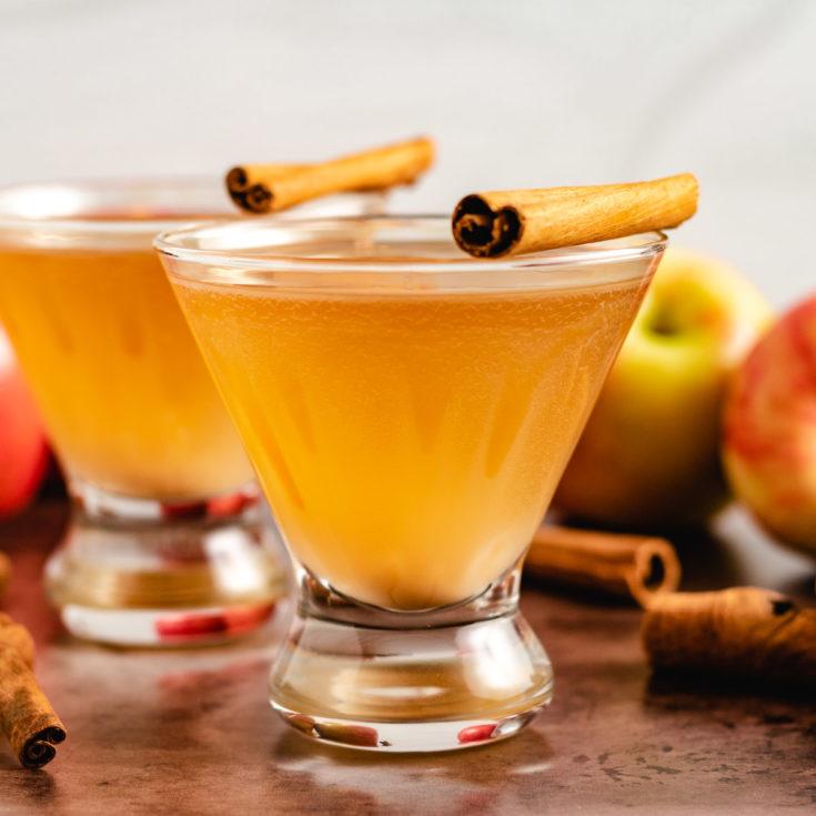 Apple cider martini featured image apple cider martini